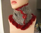 Handspun Crochet Ballee Neckwarmer OOAK