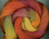 Hand dyed wool yarn for felting with free Painted Bigbag pattern, autumn