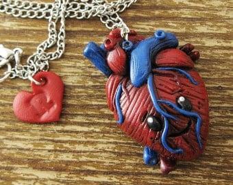 Anatomical Kawaii Heart Necklace