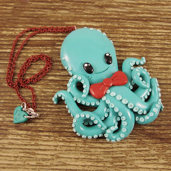 Gigantic Friendly Octopus Necklace