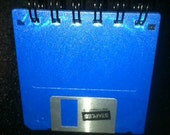 Blue Floppy Disc Spiral Post-it Note Holder