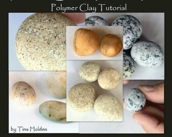 Imitative Beach Pebbles PT.2 Ryolite, Granite, Quartz - Polymer Clay Tutorials - Digital Download