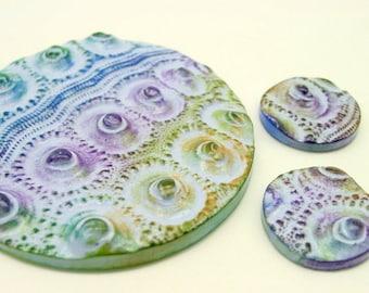 Set of 3 Sea Urchin cabochons or pendants