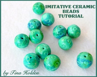 PDF Polymer Clay Tutorial - Imitative Ceramic Beads - Digital Download - PDF File