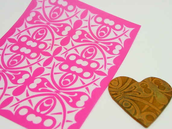 Holly Leaf Puzzle Silkscreen for Polymer clay, Fabric, Paper, Wood, screening paint on smooth surfaces