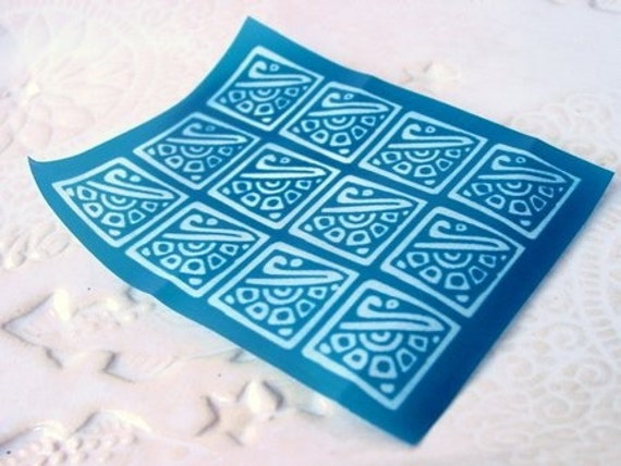 Ancient Design Silkscreen for Polymer clay, Leather, Fabric, Metal and Paper Crafts