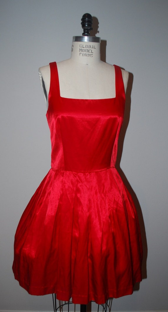 Red Silk Moulin Rouge Prom Dress