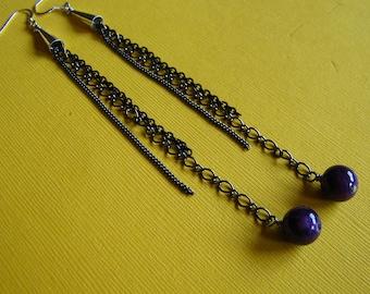 Drops of Purple Earrings