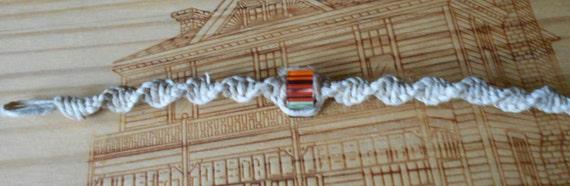 Rainbow twisted hemp bracelet