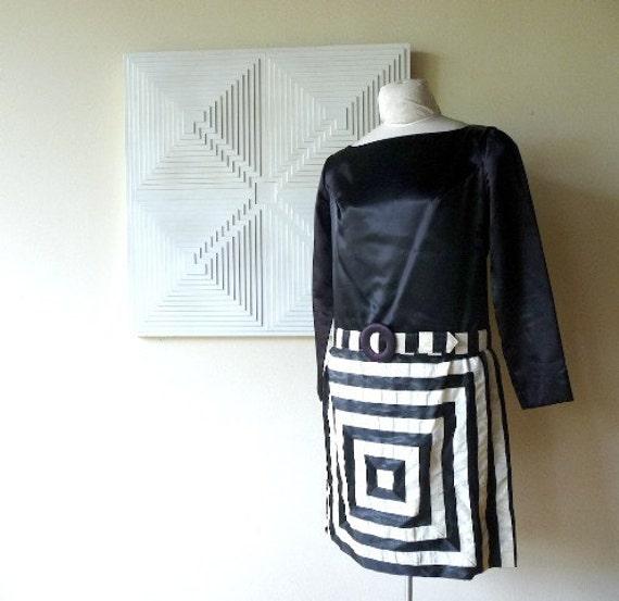 RESERVED Mod Op Art Dress by Corky Craig 1960s