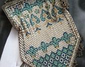 Vintage 20s Mandalian Enameled Metal Purse Handbag