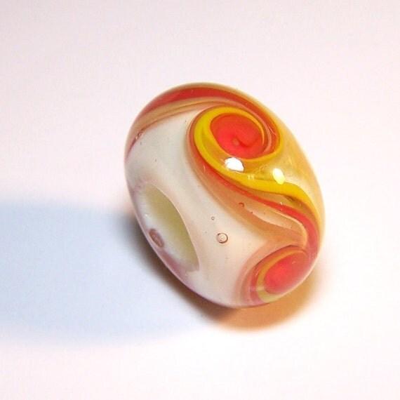 Handmade Lampwork Glass Bead Large Hole Size by Cara