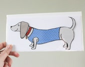 Dachshund Dog - Blank greeting card