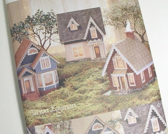 Craft Pattern for Miniature Victorian Village from Foamcore & Fabric