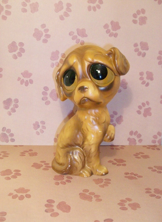 Vintage Norcrest Dog Figurine With Big Sad By