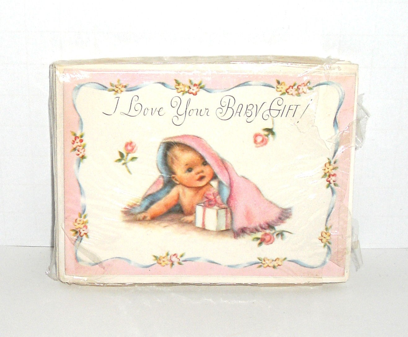 Vintage Baby Shower Thank You Cards