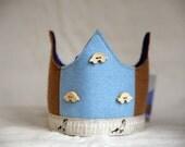 SALE Wool Felt Crown - Boy at the Fence