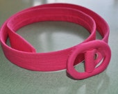 Party Belt----------------custom COLOR Oval Buckle 3/4 inch wide strap