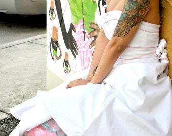 "Stretch Cotton Sweetheart Wedding ""Tesoro"" Dress-----------------No Boning or padding Size 4 Size Small"