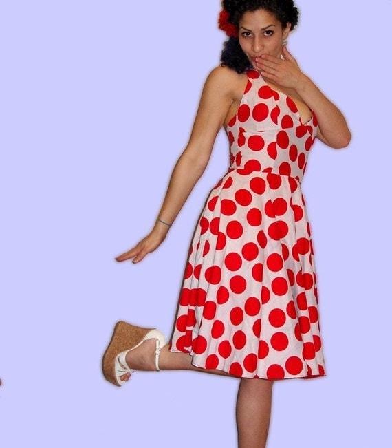 Reversible Halter Dress -- Custom Sized