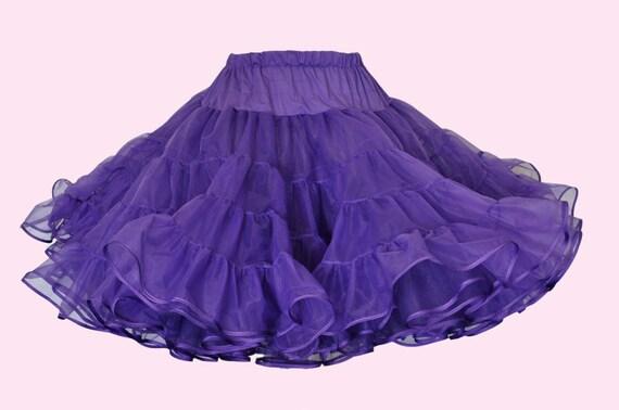 Super Full Knee Length Petticoat with ribbon hem----------pick a color