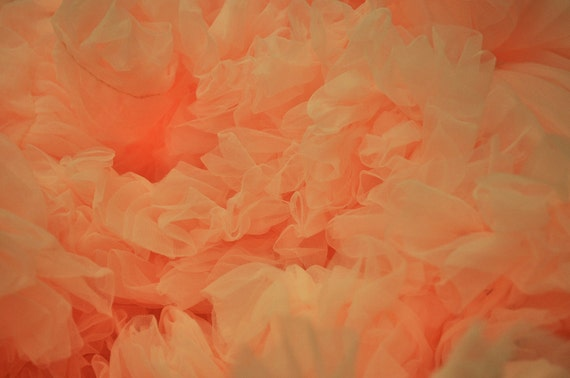 Peach Sorbet Wedding Chiffon Petticoat-----------------available in other colors