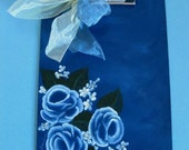 Blue Rose Clipboard from KC's Hand Painted Boutique