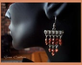 Apricot Chandelier Earrings