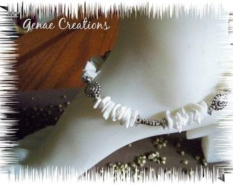White Shell Chip Ankle Bracelet