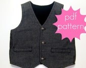 Reversible Vest PDF Sewing Pattern - nb - 5t or 6 - 14