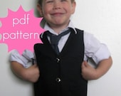 Reversible Vest PDF Sewing Pattern - nb - 5t or 6 -14