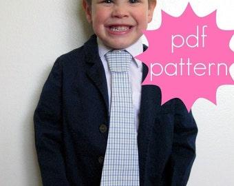 Necktie PDF Sewing Pattern - nb - 5t or 6-14