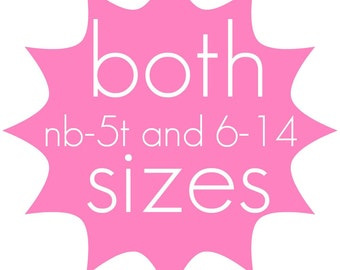 PDF Sewing Pattern - Both Sizes of any ONE pattern