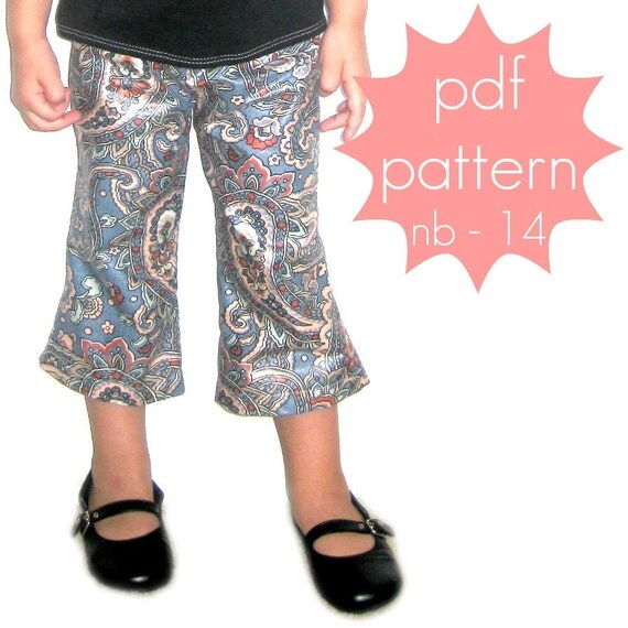 Essential Pants - INSTANT download - pdf sewing pattern - flared below knee - short, capri and full length options