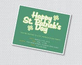 Printable St. Patrick's Day Party Invitation