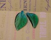 Blue and Green Glass Leaf