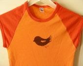 birdy love shirt in orange sherbet