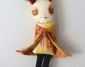 Millicent....Original Mixed Media Art Doll
