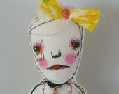 "Original folk art, Goth, Art Doll....""SARINE"""