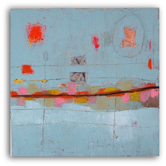 """Large Original Abstract  Painting by Christina Romeo 2ft x 2ft TITLE:  """"SIX"""""""
