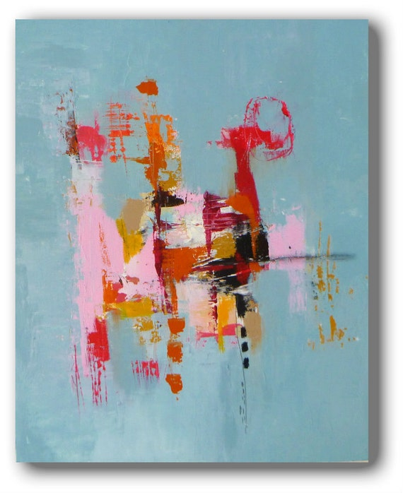 "Modern Art an Original  Abstract Landscape...A Painting by Christina Romeo TITLE: ""Deceit"""