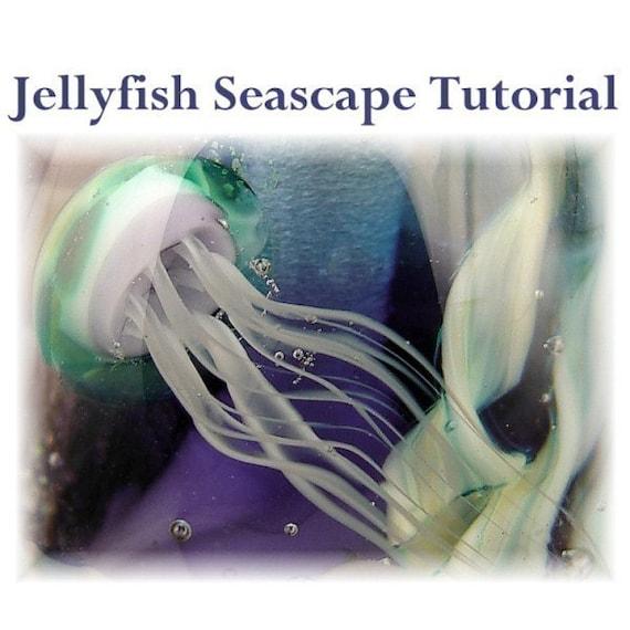 Jellyfish Seascape Lampwork Glass Bead Tutorial - Aquarium Focal Bead Step by Step instructions
