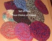 Pot Scrubbies , Set of Four, Crochet