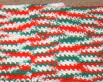 Wash Cloth, Chrismas Colors, Set of Two