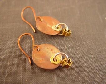 Copper Orbit Earrings