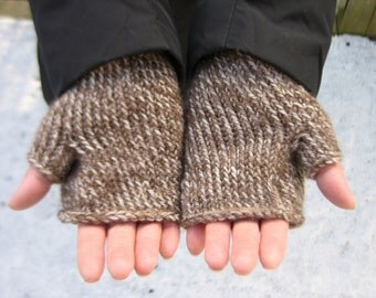 Fingerless Gloves, Men or Women, Hand Knit and Made to Order, You Choose Yarn