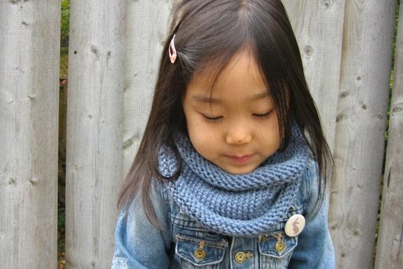 Kids Chunky Knit Cowl, Neckwarmer, Scarf, Hand Knit
