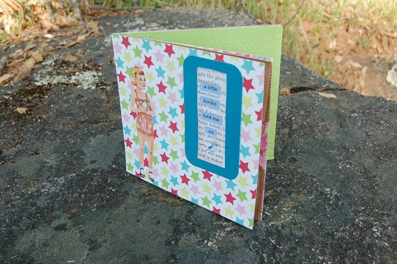 RESERVED FOR PAMGRUEN -Paper Doll Paper Bag Birthday Card