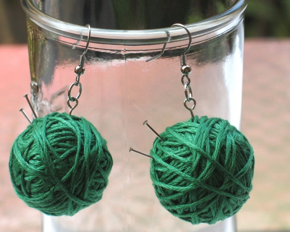 Knit 1 Purl 2 - Knitting Earring