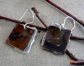 Earrings with Waxed Paper